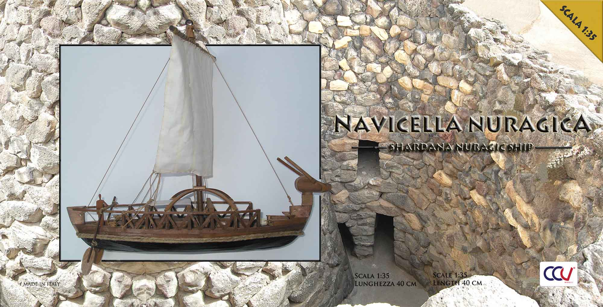 Nuragic small boat